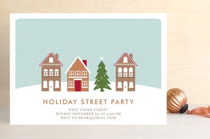 Holiday Street Party Holiday Party Invitations By Kampai Designs