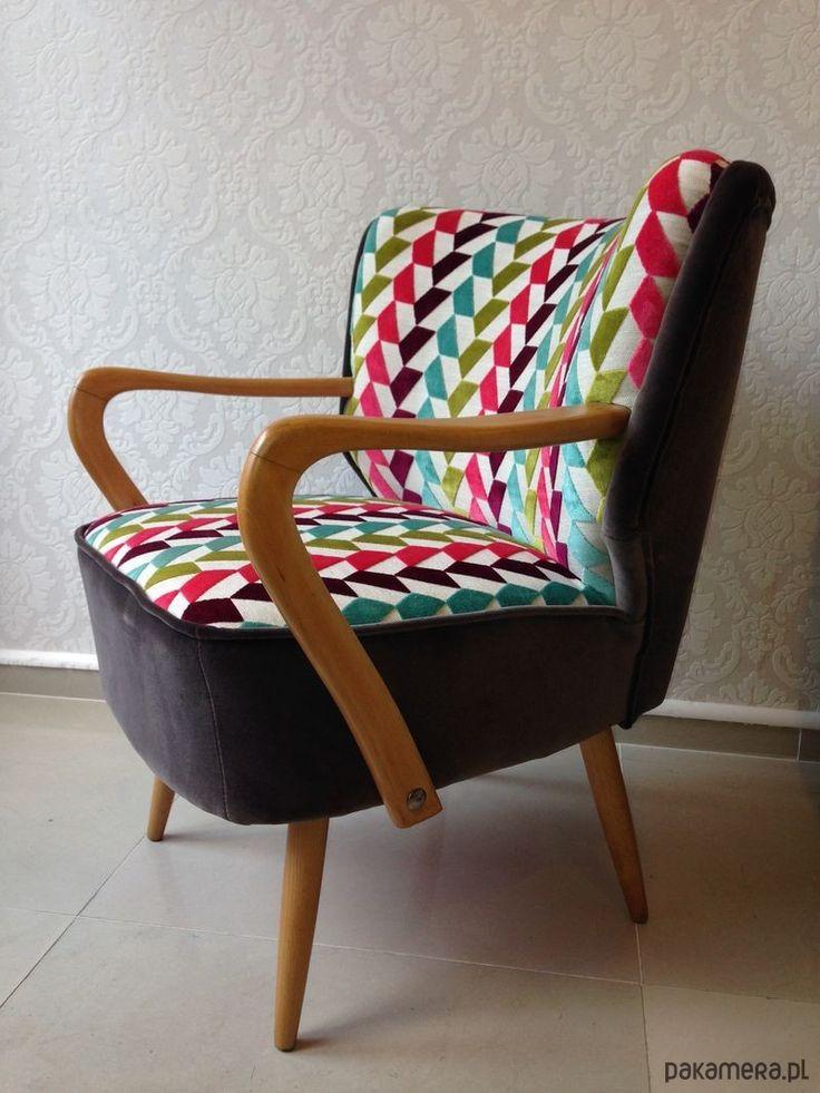 meble - fotele-Fotel Klubowy Lata 60
