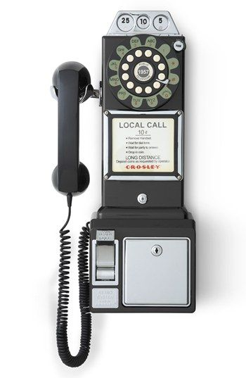 Wall phone that looks like a pay phone ❤️ $70.00
