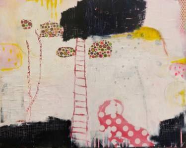 """Saatchi Art Artist Christiane Lohrig; Collage, """"findet mich das Glück?"""" #art"""
