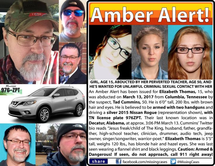AMBER ALERT UPDATE! Find Elizabeth Thomas! is an updated Amber Alert case and the girl and suspect still have not been found. Read and share!