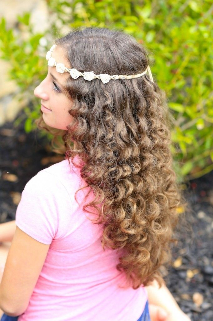 Hairstyles For Prom Cgh : No heat paper towel curls cute girls hairstyles