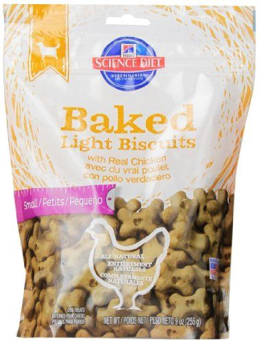 Hill's Science Diet Baked Light Biscuits with Real Chicken Small Dog Treats, 9-Ounce Pouch *** Be sure to check out this awesome product.