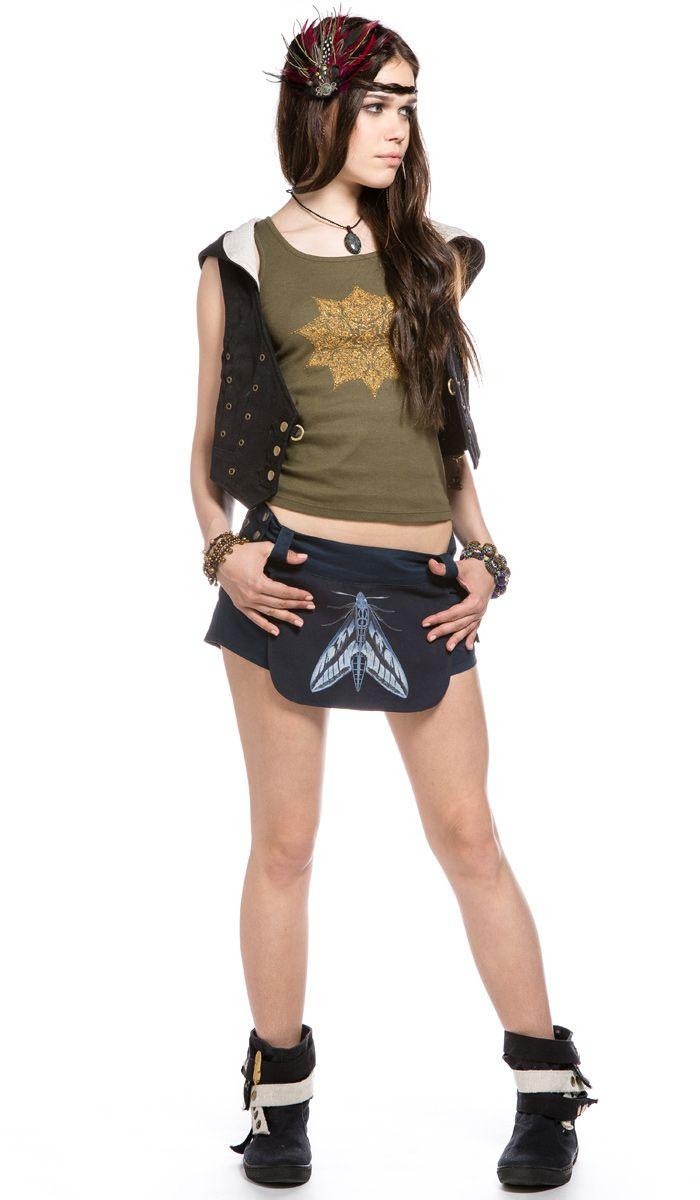 http://indiastyle.ru/products/shortiki-zhenskie-motylek Шорты в гоа стиле, фестивальный стиль, бренд Aath. shorts style goa, festival style. 2620 рублей