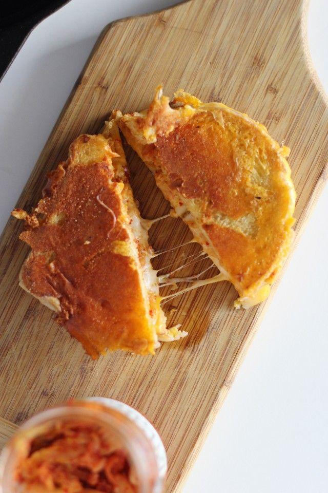 Kimchi Grilled Cheese   HonestlyYUM