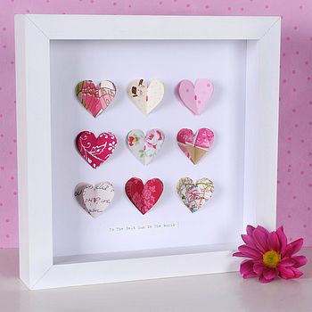 Hearts in a Box Frame
