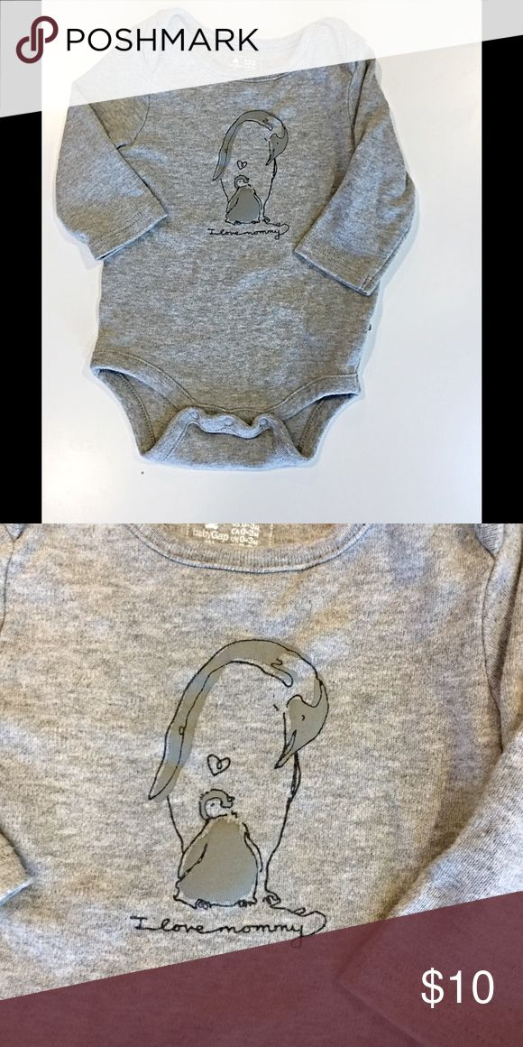 "Baby GAP onsie ""I love mommy"" great condition. Very cute onsie. Worn a handful of times. Baby GAP soft 😊 Baby GAP One Pieces"