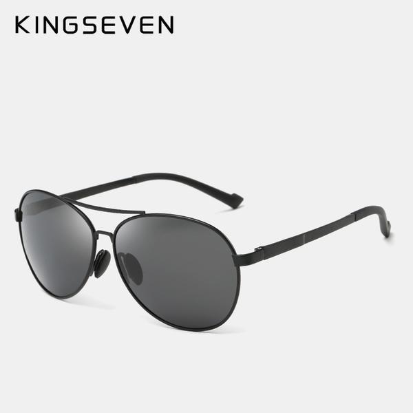 FuzWeb KINGSEVEN Design Men Classic Aviation Sunglasses HD Polarized  Aluminum Driving Luxury N7110 11876a6a95c46