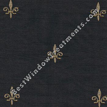 fleur de lis duchess valance curtains fabric by the yard pillows window treatments in black and gold fleur