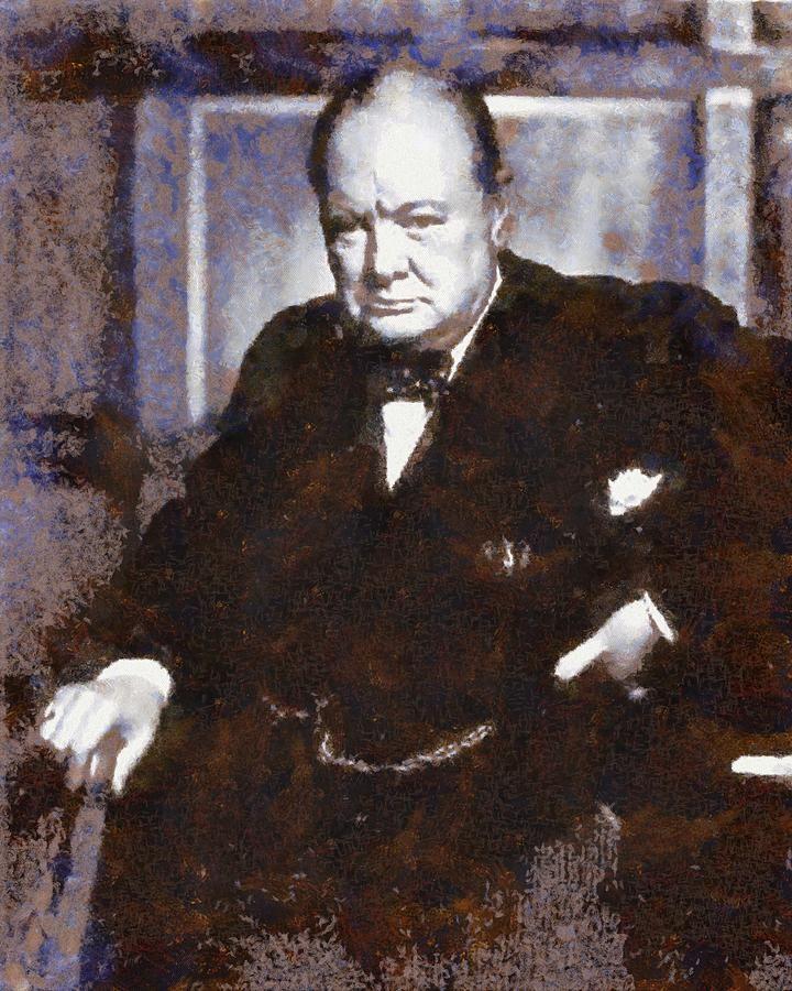 Winston Churchill Berge In Der Nahe Von Lokmor Schottland