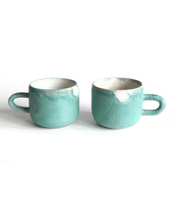 2 Espresso Cups Handmade ceramics by RzucidloCeramics on Etsy