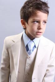 Boys cream 3 piece page boy suit - Roco Clothing