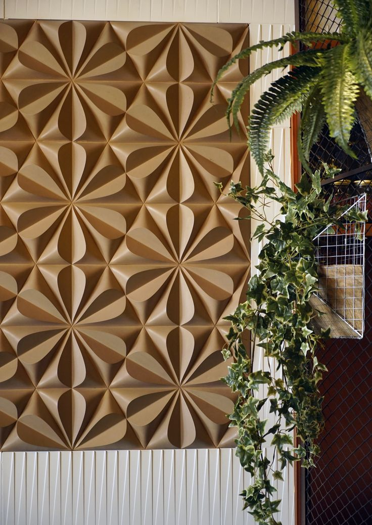 'Seed' concrete tiles by Gillian Blease I KAZA Concrete #3Dtiles #featurewall #surfacedesign #interiordesign #backsplash