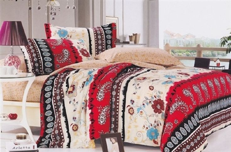 Twin XL Bedding Sets for College Dorms : Cool Extra Long Twin Bed Set With Batik Motifs
