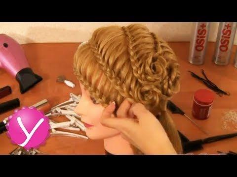 Плетение кос - праздничная прическа с цветами - YouTube