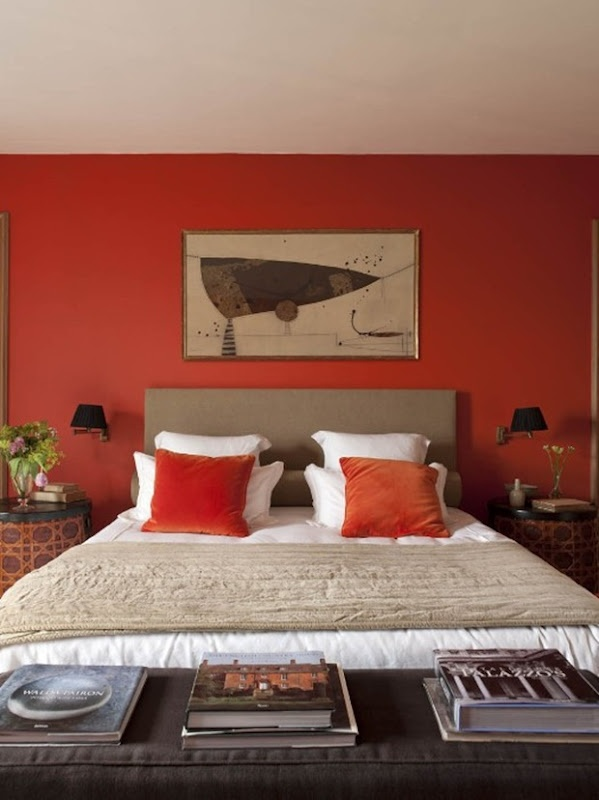 We Ll Probably Always Have Our Orange Wall In The Bedroom If