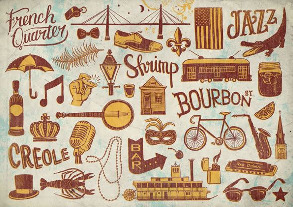 new orleans icons - Google Search
