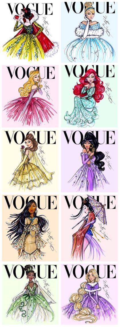 All the Disney princess on the Vogue megazine