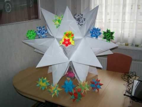 Bascetta Stern - Origami - Weihnachtsstern - Video - inkl. Anleitung - 3...