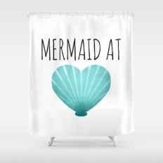 Mermaid At Heart   Teal Shower Curtain