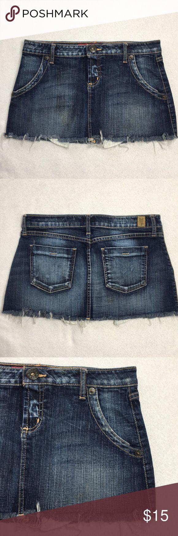 I just added this listing on Poshmark: Guess Jean Mini Skirt w/ Frayed Hems - Sz 29. #shopmycloset #poshmark #fashion #shopping #style #forsale #Guess #Dresses & Skirts