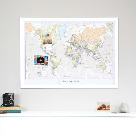 15 mejores imgenes de map gifts for him en pinterest mapas personalised classic world map gumiabroncs Gallery