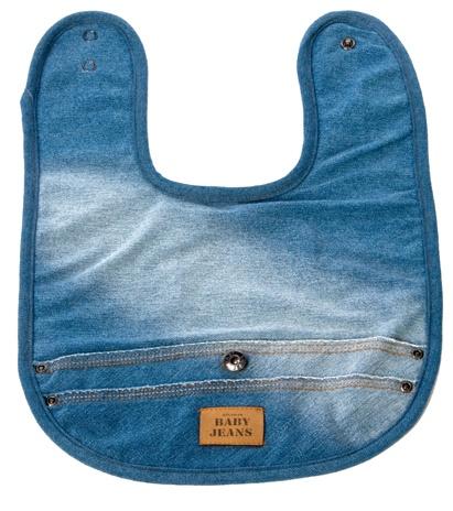 Bavaglino in spugna e cotone jeans - BabyLike.it - € 16,00
