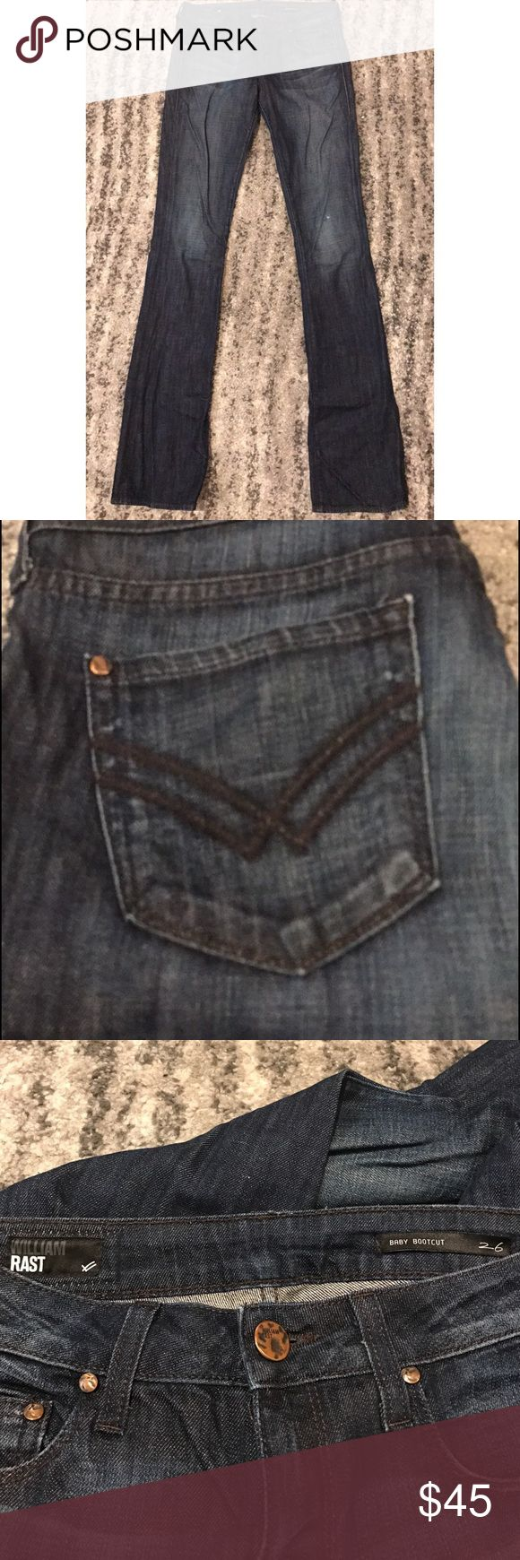 """William Rast baby boot cut jeans William Rast """"baby boot cut"""" jeans! Size 26, 33"""" inseam. PERFECT JEANS! The baby boot cut is perfect to wear with sneakers or flats! Great condition! William Rast Jeans Boot Cut"""