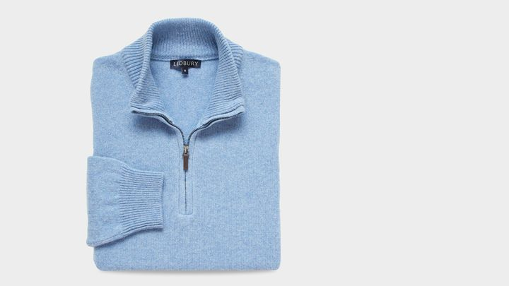 The Light Blue Ashton Half Zip