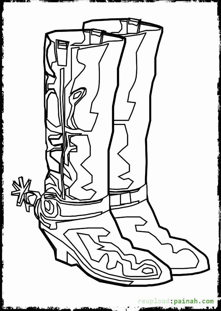 Cowboy Boots Coloring Page Beautiful Cowboy Boots And Hats Coloring Pages Bestofcoloring In 2020 Coloring Pages My Little Pony Coloring Cowgirl Boots