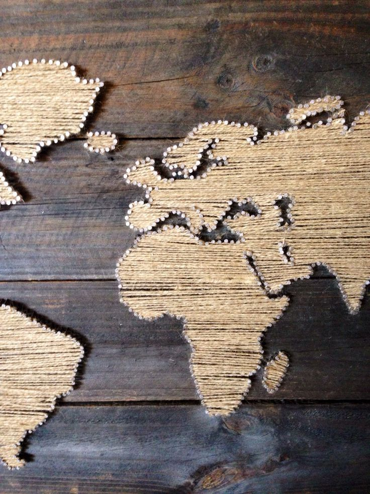 World Map String Art by 8thAveProject on Etsy
