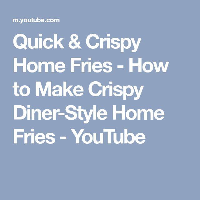 how to make homefries crispy