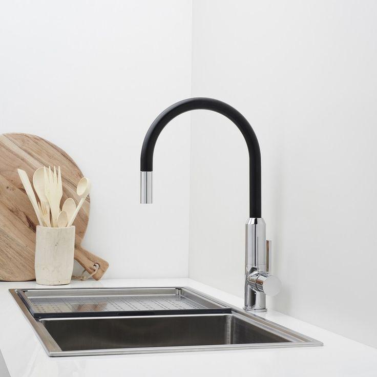 dorf vixen retractable sink mixer black kitchen mixer taps kitchen tapware. Interior Design Ideas. Home Design Ideas