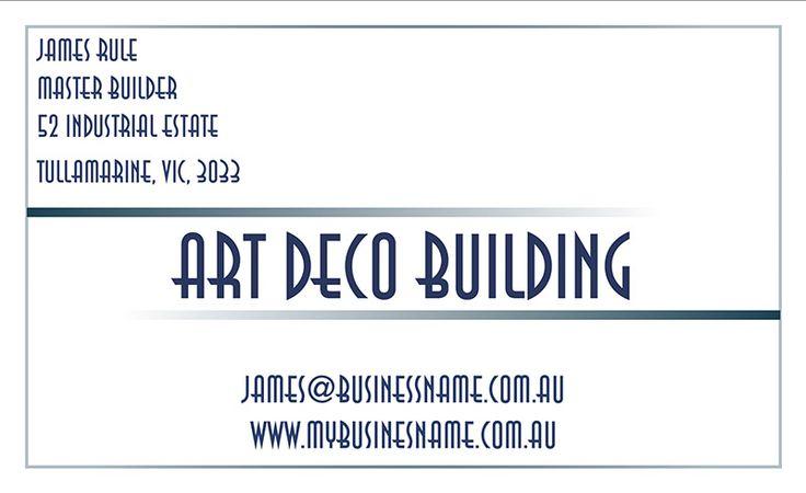 Art Deco Border cardsandinvites.com.au unique designs, personal service, online convenience