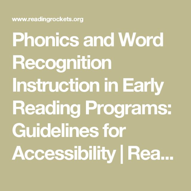 UNDERSTANDING This article examined the instruction of phonics and word recognition used with children with reading disabilities. The guidelines for selecting and implementing reading programs that enable students to successfully learn to read are: daily time for reading, access to books in school, and access to books taken home to be read independently or with family. This paper was helpful and informative on teaching instructing students with reading disabilities.