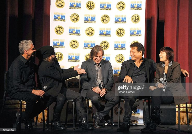 Every Mann, Carlos Varela, Jackson Browne, Ron Chapman and Meira Blaustein attend 'The Poet Of Havana' screening during the 2015 Woodstock Film Festival at Ulster Performing Arts Center on September 30, 2015 in Kingston, New York.