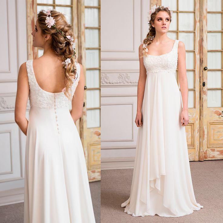 Vestido de novia corte imperio bordado a mano · Empire Waist Wedding Dresses - www.santoencanto.cl/vestidos-de-novia/