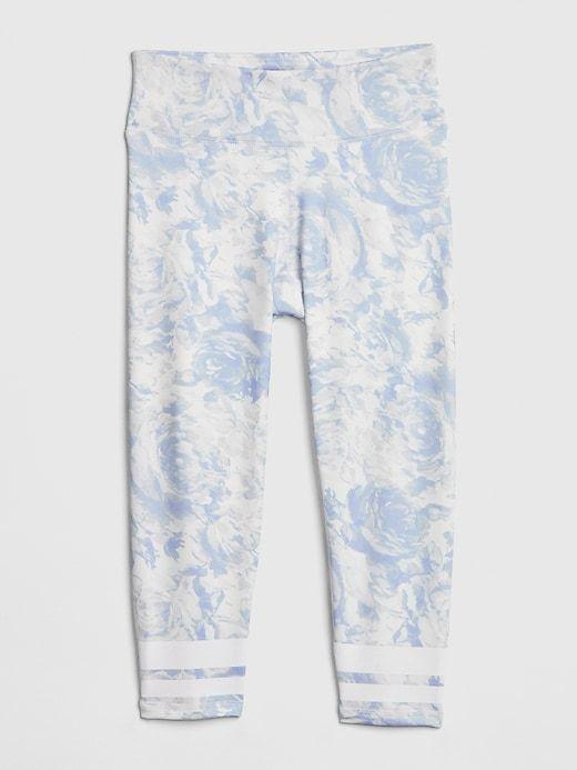 f609ec7d1e5c9 Gap Girls' Gapfit Kids Crop Leggings Blue Floral in 2019 | Products ...