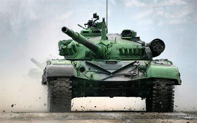 Scarica sfondi Carro armato di battaglia, M-84, discarica, esercito, carri armati