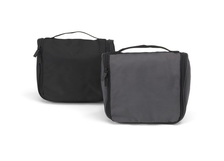 JJDK Oranged Stokes toiletry bags in black and grey colors