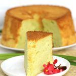 A fragrant, soft, fluffy and moist pandan chiffon cake made with natural pandan and coconut milk extract. It's so tasty and addictive!