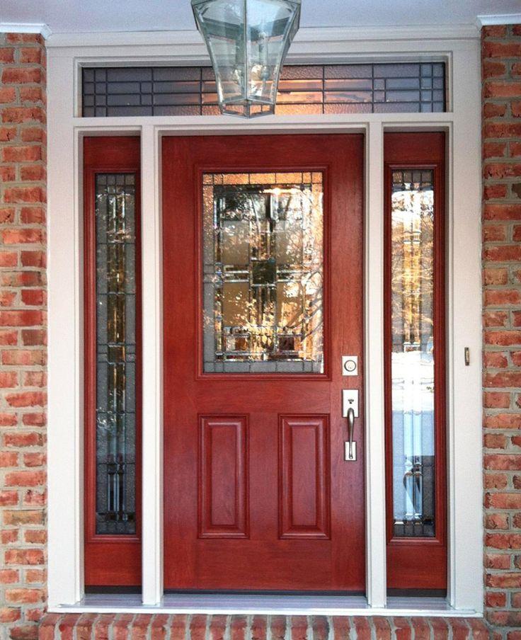 Signet front entry door with Sidelights installed by the Nova Exteriors door crew this week.