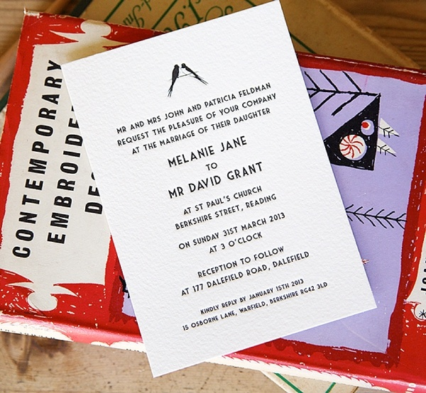 Artcadia Letterpress Wedding Stationery ~ Uncomplicated Letterpress Range   A Generous Reader Offer