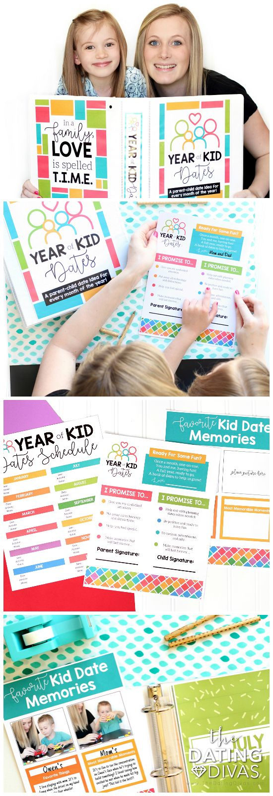Year of Kid Date Ideas Binder- a one-on-one date with your child for every month of the year!! This is AWESOME! The perfect birthday or Christmas gift that is actually meaningful. What a great way to make memories!