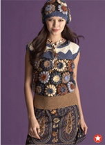 Ana Sui flower loom  garment from Vogue Knitting Fall 2011