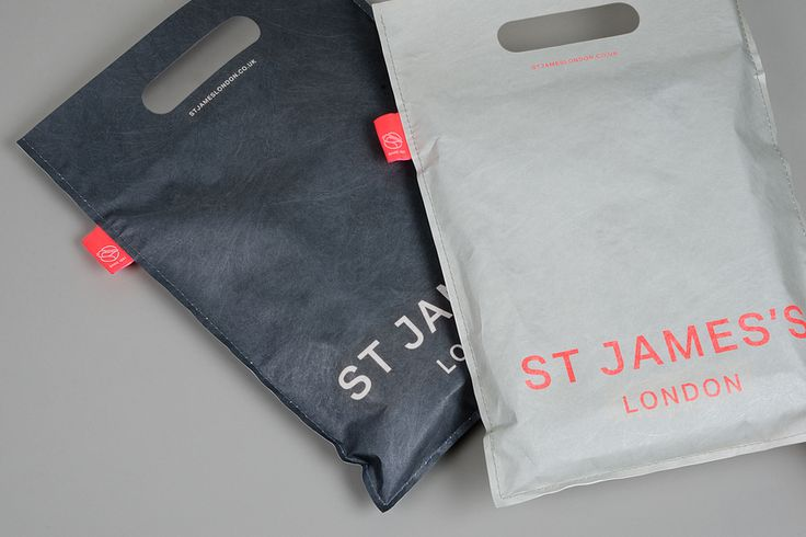 Visual identity and bags for St James's, London designed by dn&co.