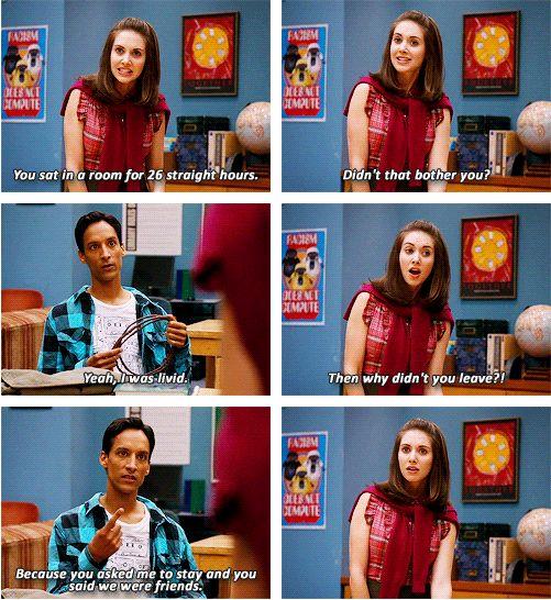 Abed Nadir and Annie Edison, Community, 1x04