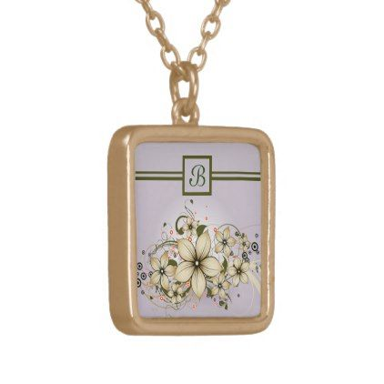 Elegant Flowers Gold Plated Necklace - floral style flower flowers stylish diy personalize
