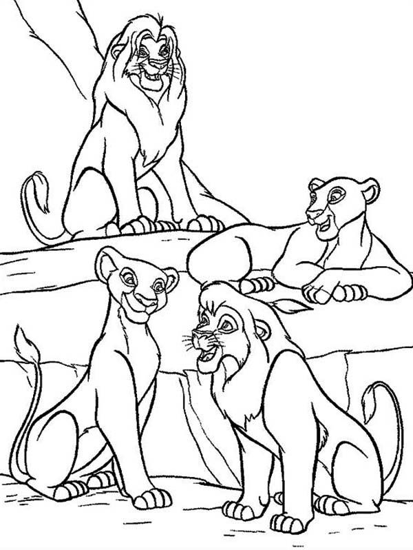 Lion king mufasa nala simba and sarabi are talking the lion king · disney coloring pagesfree
