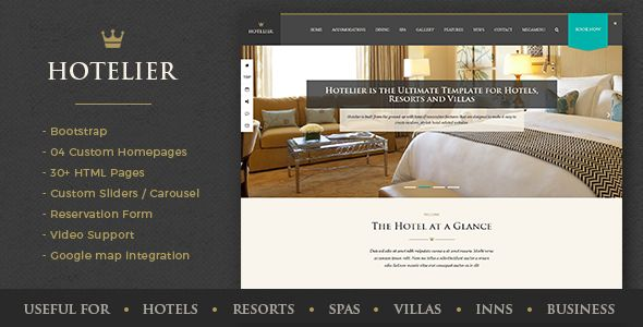 Hillter - Hotel Booking HTML5 Template Bootstrap Themes Pinterest - reservation forms in pdf